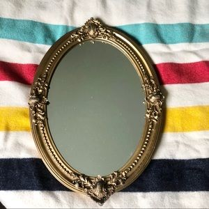 Vintage 1970's Wooden Gold Framed Mirror